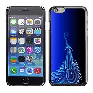 LECELL -- Funda protectora / Cubierta / Piel For Apple iPhone 6 Plus 5.5 -- Blue Dragon --