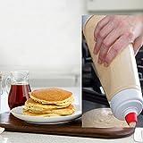 Baking Tool Waffle Baking Mixes Pancakes bottle, DUTISON Pancake Batter Mixer Cream Batter Dispenser Mixer with Blender Ball Measure Wire Cupcake Squirt Bottles Cupcake Tool for Cupcakes, Waffles, Mu