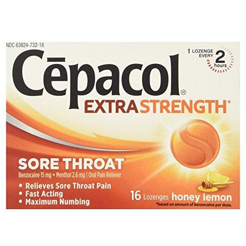 Cepacol Sore Throat Extra Strength, Honey Lemon 16 ea ( Pack of 6)