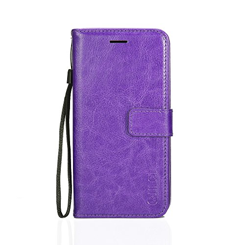 Samsung Galaxy S9 Plus Case, HLCT PU Leather Case, with Soft TPU Protective Bumper, Built-in Kickstand, Cash and Card Pockets (Purple) (Best Car Batteries On The Market)