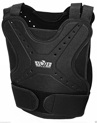 Paintball Airsoft Padded Chest Protector Guard Body Armor Vest Pad Black