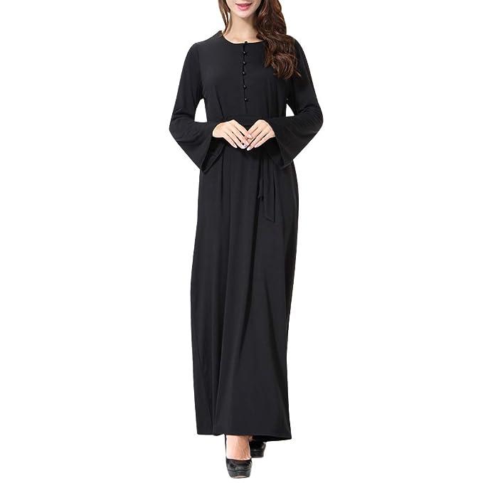 1c36f6832 uirend Mujer Musulmanes Vestidos - Islámico Ropa Abayamaxi Vestido Kaftan  Fiesta Ocasión Manga Completa Encaje Vestir Bata  Amazon.es  Ropa y  accesorios