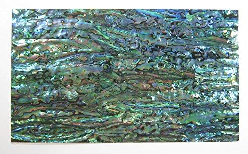 Inlay Mosaic Shell - Shiny Paint Surface Flexible/Flat Enhanced Black/White/None Base Adhesive Veneer Sheet (Shiny Painted Cutline Sligtly Flexible, Abalone)