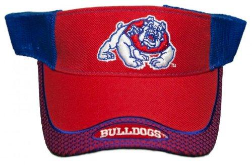 (New! Fresno State University Bulldogs Back Embroidered Sun Visor - One Size)
