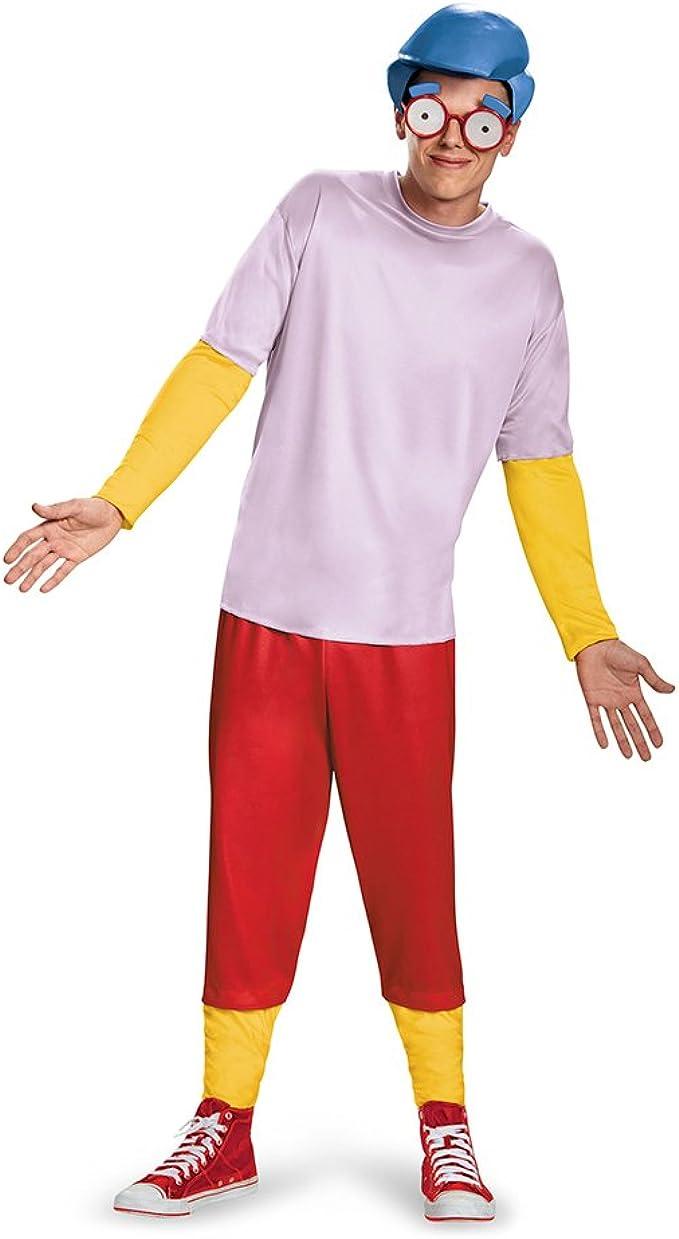 Amazon.com: Disfraz de los hombres Milhouse Deluxe Adult ...