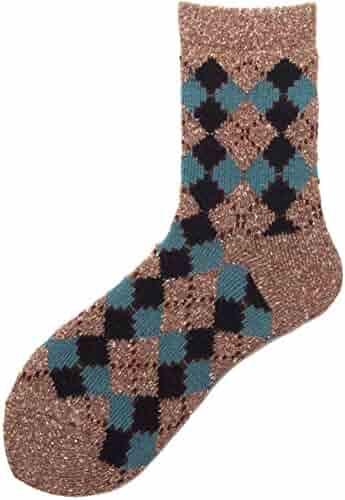 ada02eaab73ec YEMEKE Womens Wool Socks Thick Heavy Thermal Cabin Fuzzy Winter Warm Crew  Socks For Cold Weather