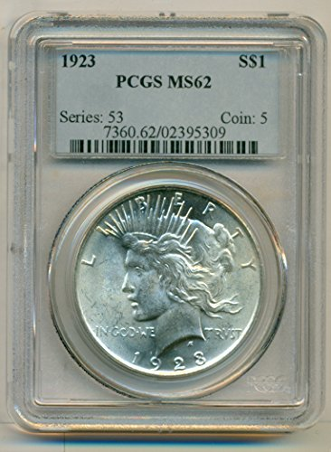 1923 Peace Silver Dollar MS62 PCGS
