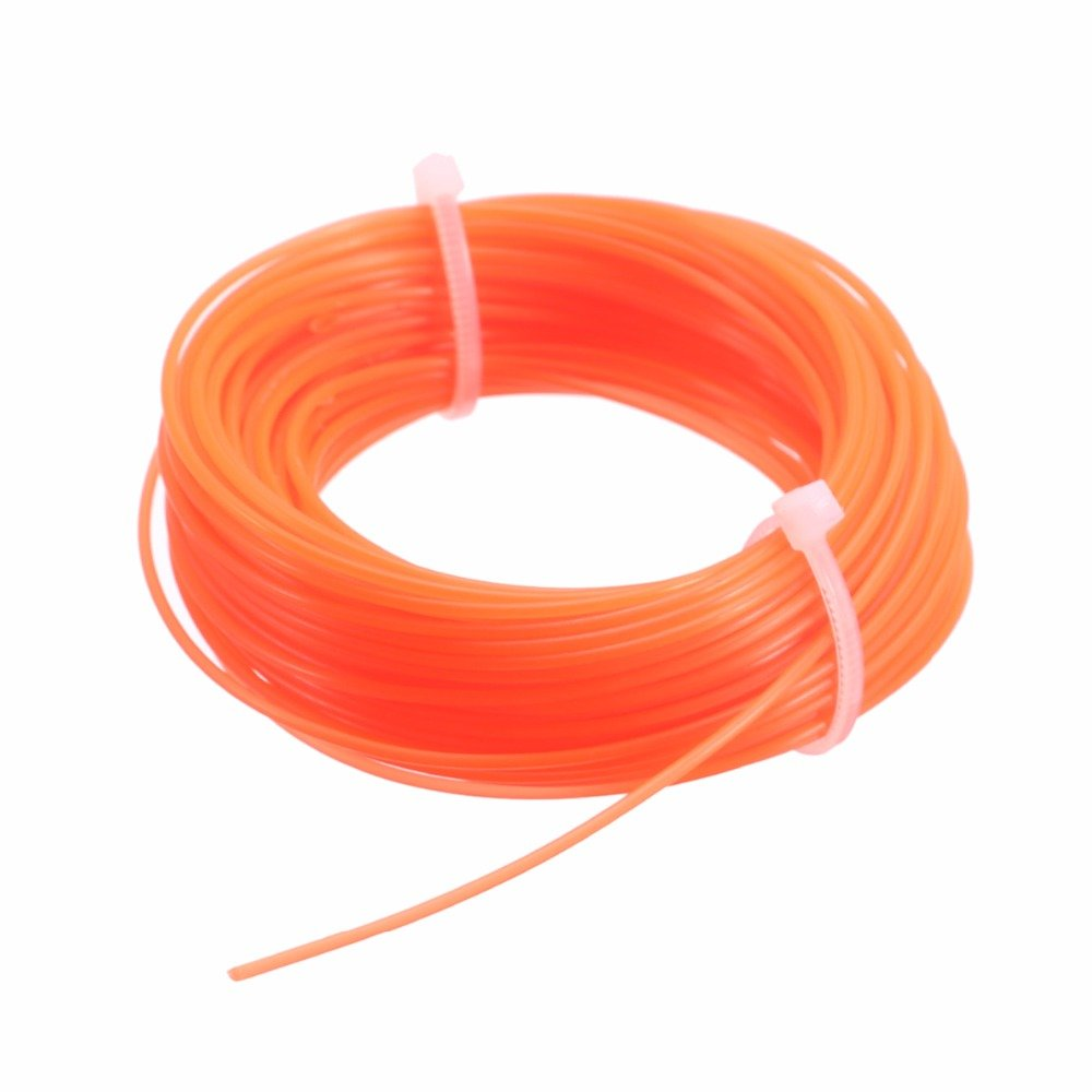 Mayitr Nylon Trimmer Line Rope Roll Fit Most Petrol Strimmers Machine Lawn Mover Parts 15m x 1.25mm