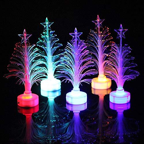 2 Unids LED Árbol de Navidad Noche Luz Decorativo Escena de Vacaciones Fibra Óptica Niños Surtidos Regalo de Navidad 7...