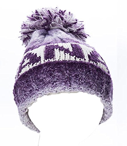Purple Canada Beanie Tuque With Pom Pom Robin Ruth
