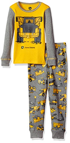 John Deere Boys' PJ, Grey, 5
