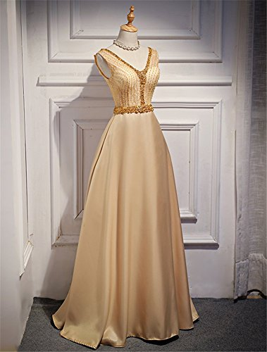 Drasawee Empire Drasawee Damen Empire Damen Gold Kleid rPr8FSqn
