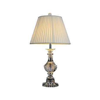 Tonyu0027 Home K9 Crystal LED Tischleuchte Mit Stoff Schirm Nachttisch Lampe  Schreibtisch Lampe Für Schlafzimmer