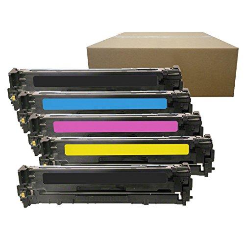 Inktoneram Compatible Toner Cartridges Replacement for HP 128A CE320A CE321A CE323A CE322A LaserJet Pro CM1415 CM1415fnw CM1415fnw MFP CP1525n CP1525nw ([2-Black,Cyan,Magenta,Yellow], 5-Pack) ()