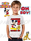 Mickey Mouse Birthday Shirt, Mickey Mouse Birthday Party, Add Any Name and Age, Family Matching Shirts, Boys and Girls Birthday Shirts, Personalized Mickey Mouse Shirt 1