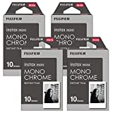 Fujifilm Instax Monchrome Instant Film 4 Pack For Mini 8 Cameras 40 Sheets