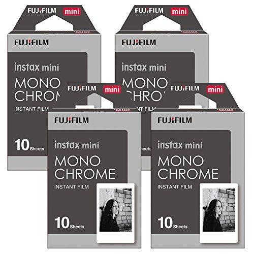 Fujifilm Instax Monchrome Instant Film 4 Pack For Mini 8 Cameras 40 Sheets