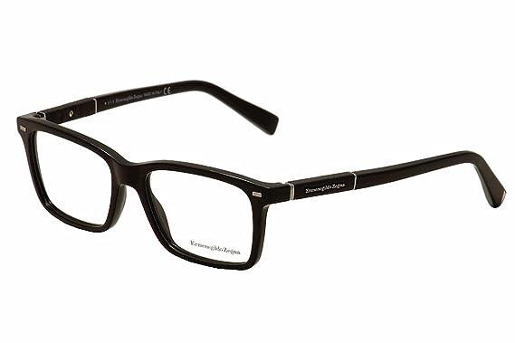 5cf163d37c Amazon.com  ERMENEGILDO ZEGNA Eyeglasses EZ5037 001 Shiny Black 54MM ...