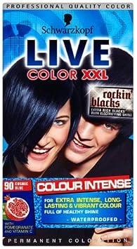 3 x Schwarzkopf Live Color Cosmic Blue nº 90