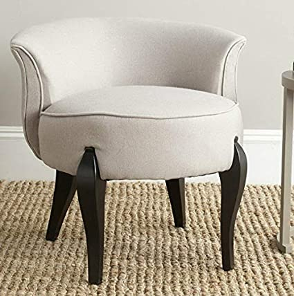 Amazon.com: Hebel Mora French Leg Linen Vanity Chair | Model ...