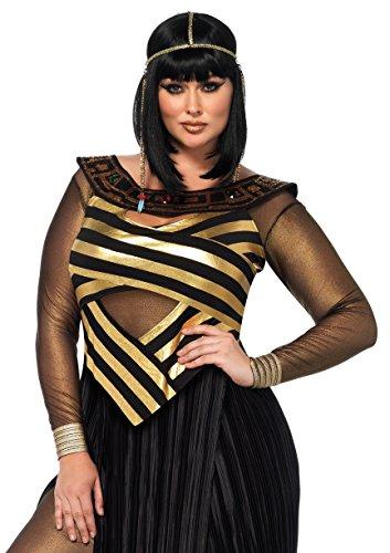 [Leg Avenue Women's Plus Size Nile Queen Costume, Black/Gold, 3X-4X] (Halloween Costumes 4x)