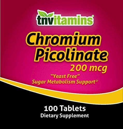 TNVitamins Chromium Picolinate 200 Mg 100 Capsules by TNVitamins (Image #1)