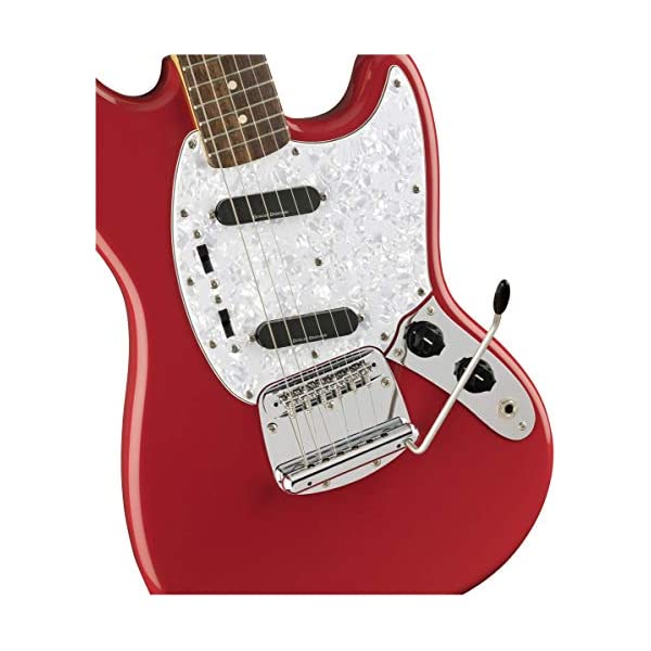 Squier by Fender Vintage Modified Mustang Beginner Short Scale Electric Guitar – Fiesta Red