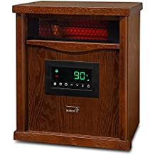 Ivation Portable Electric Space Heater, 1500-Watt 6-Element Infrared Quartz Mini Heater With Digital Thermostat, Remote Control, Timer & Filter