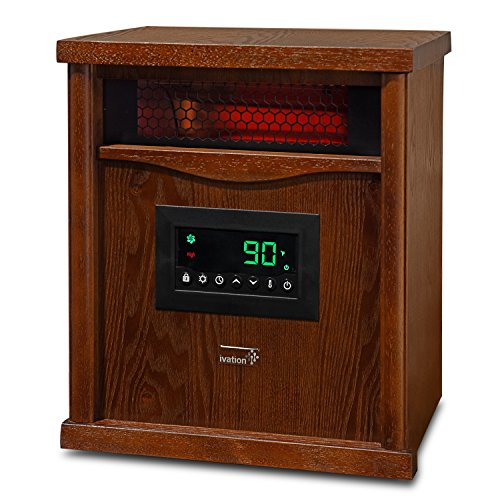 Ivation Portable Electric Space Heater, 1500-Watt 6-Element Infrared...