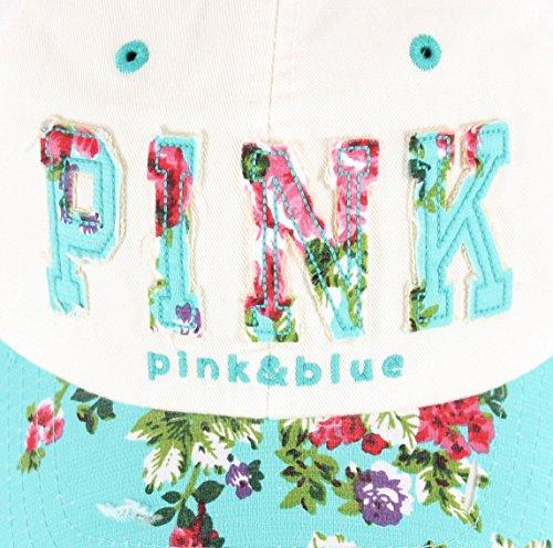 38a6e6dce2 Raon B82 Sexy Women Girl Flower PINK Cute Lady Design Ball Cap Baseball Hat  Truckers (White-Mint). White-Mint