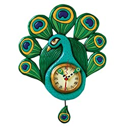 Allen Designs Pretty Peacock clock