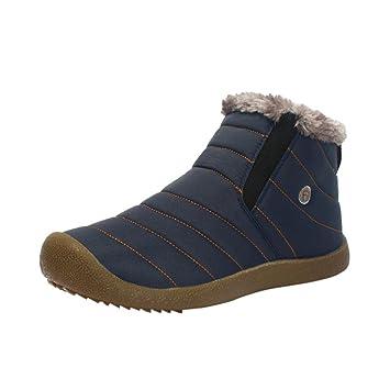 Zapatos de Hombre, Manadlian Hombres Zapatos Casuales Botines de Nieve de Invierno Forrado de Piel Zapatos de Trabajo al Aire Libre: Amazon.es: Deportes y ...
