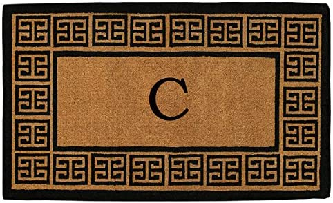 Home More 180091830C The Grecian 18 X 30 Extra-Thick Monogrammed Doormat Letter C