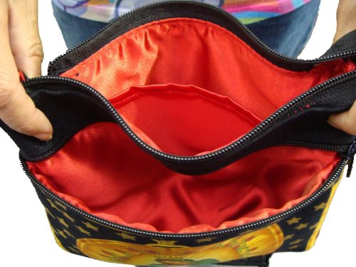 Body Over Purse Asian Handbag HANDMADE CSOP4407 Cross US Style FASHION Floral Print Bag Shoulder Flowers 0IO8w