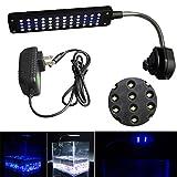 Mingdak® LED Clip Aquarium Lights Kit for Fish Tanks,48 Leds,lighting Color White and Blue