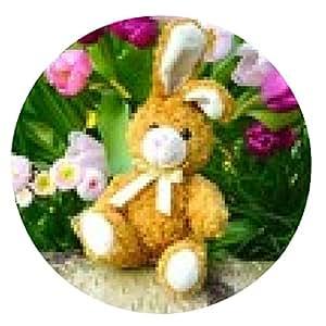alfombrilla de ratón Tarjeta - conejito de Pascua y huevos de Pascua - ronda - 20cm