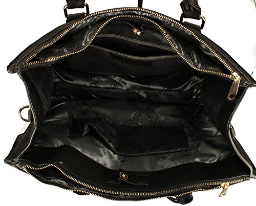 Business SWANKYSWANS Shoulder Womens Bag City Naples Bag Work Cosmo Black vPFqIxPwB1
