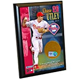 MLB Philadelphia Phillies Chase Utley 4-by-6-Inch Dirt Plaque