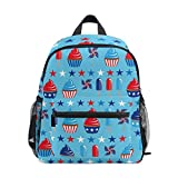 ice cream book bag - Cupcakes Ice-Cream Printed Kids Backpack School Book Bag Travel Casual Daypack