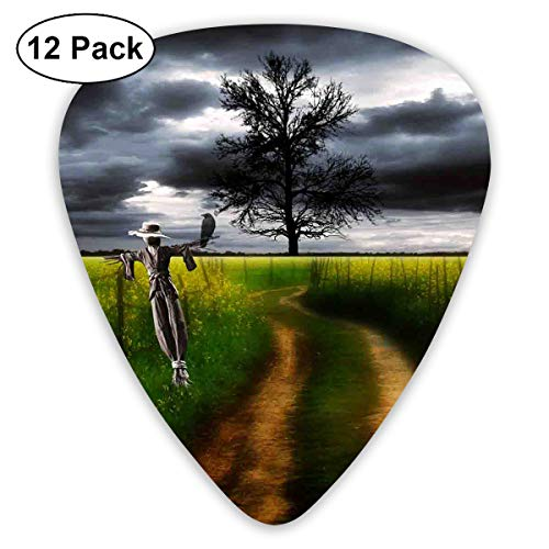 351 Shape Classic Guitar Picks Scarecrow Picture Plectrums Instrument Standard Bass 12 Pack