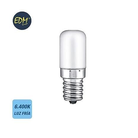 Bombilla de led tubular nevera 1.8W E14 130lm 6400K EDM 98888