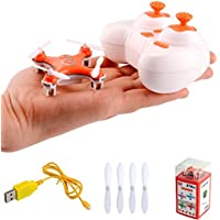 CHEERSON CX-10 RC Nano Drone with Controller 4CH 2.4GHz 6-Axis Gyro Headless Mini Quadcopter Airplane Orange