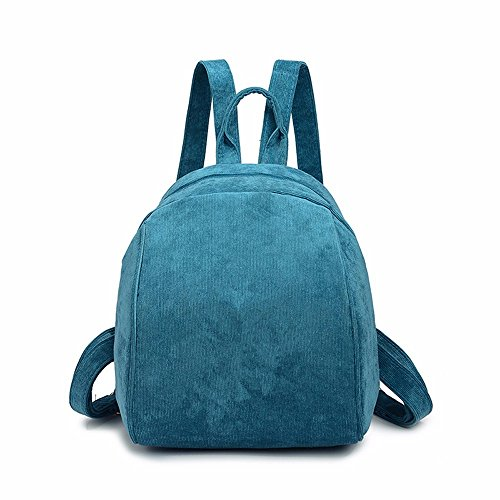 Blue Female Print Mini Retro Red Shoulder Lmdsg Student Simple Korean Small Wild Bag Wine Peacock Bag Version Corduroy 2018 Backpack Velvet Rp77AtqWO