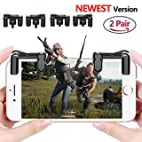 #10: PUBG Mobile Game Controller Sensitive Shoot and Aim Keys L1R1 Trigger Buttons for PUBG/Knives Out/Rules of Survival, Support Both Android and IOS System (2 Pair)