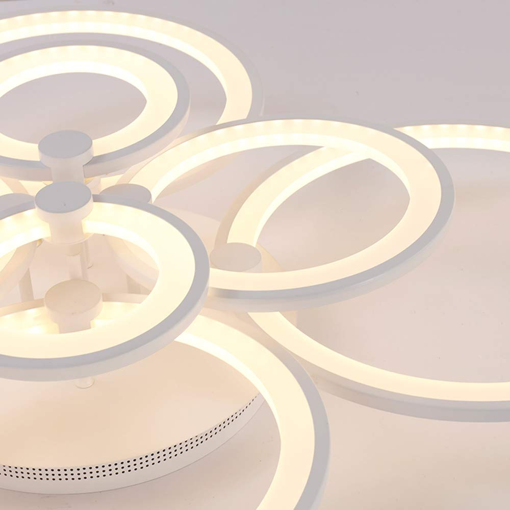LED Modern Deckenlampe,ONLT Möbeleinbauleuchte Deckenlampe Wohnzimmer Leuchte,Pendelleuchte,Hängelampe,Kronleuchter Leuchte,Pendelleuchte,Hängelampe,Kronleuchter Leuchte,Pendelleuchte,Hängelampe,Kronleuchter (Kaltweiß, 6 Köpfe) 21afca