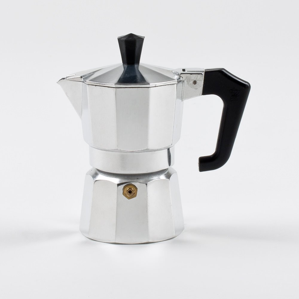 Pezzetti Stove-Top Moka Espresso Italian-Made Coffee Maker Moka Pot- 1,2,3,6,9,14 Cup (1 Cup)
