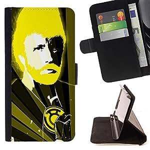 BullDog Case - FOR/Sony Xperia Z1 L39 / - / Funny Chuck N Karate God /- Monedero de cuero de la PU Llevar cubierta de la caja con el ID Credit Card Slots Flip funda de cuer