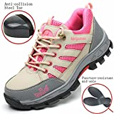 GUDUN Women Breathable Steel Toe Shoes for Women Steel Toe Cap Shoes (9-15 Days to delivery) (US Women 7.5, GDW02)