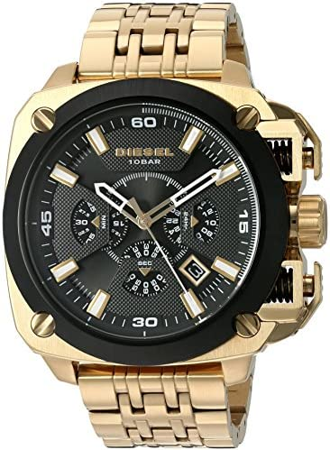 Diesel Men's 'Bamf' Quartz Stainless Steel Watch, Color:Gold-Toned (Model: DZ7378)