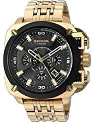 Diesel Mens Bamf Quartz Stainless Steel Watch, Color:Gold-Toned (Model: DZ7378)